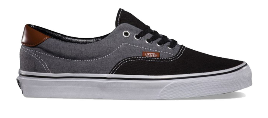 Era 59 Canvas Chambray Black chaussure skate vans